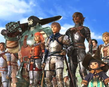 The_five_races_of_FFXI,_opening_movie_screenshot